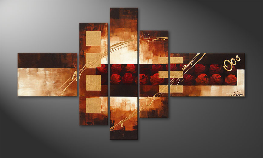 Art painting Rose Phantasies 150x90x2cm