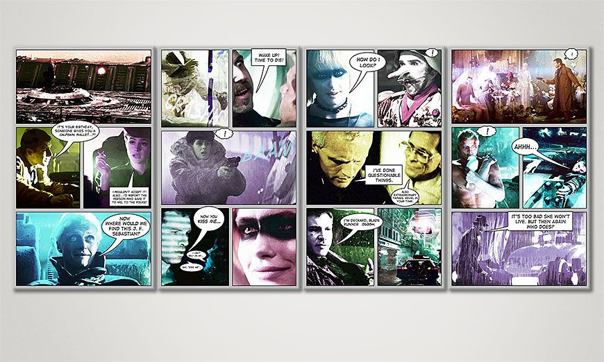 Art print Blade Runner in 160x70x2cm