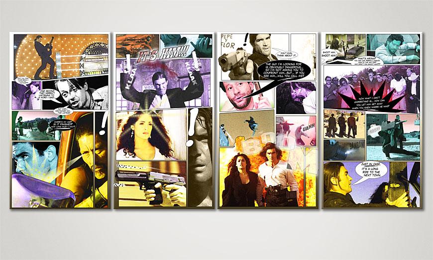 Art print Desperado in 160x70x2cm