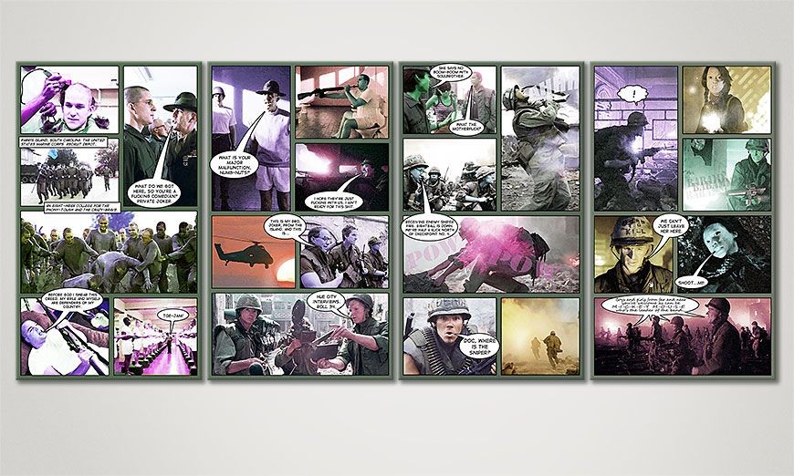 Art print Full Metal Jacket in 160x70x2cm