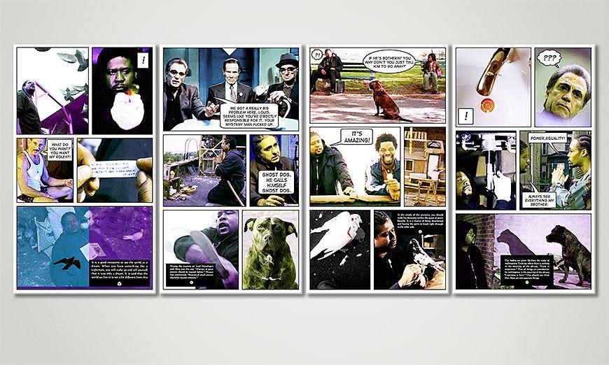 Art print Ghost Dog 160x70x2cm