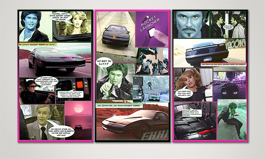 Art print Knight Rider in 120x70x2cm