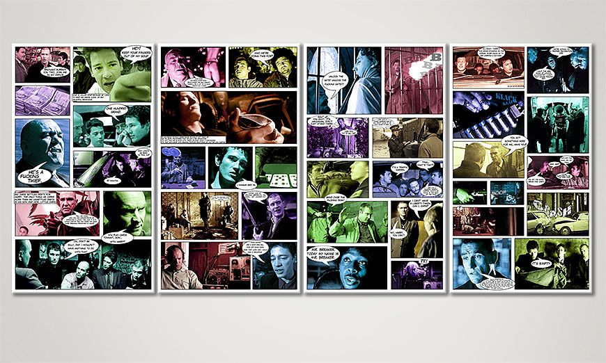 Art print Lock, Stock & Two Smoking Barrels 160x70x2cm