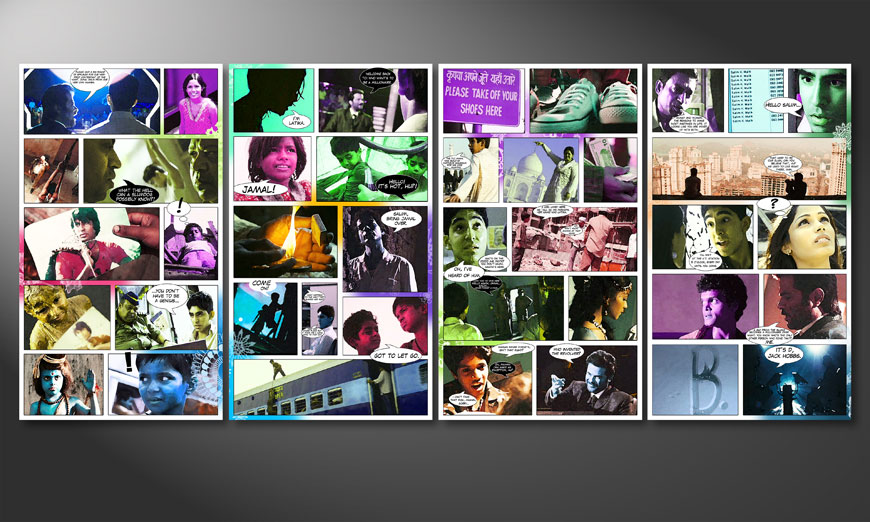 Art print Slumdog Millionaire 160x70x2cm