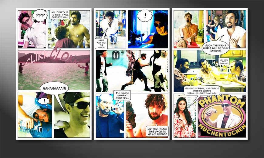 Art print You don't mess with the Zohan 120x70x2cm