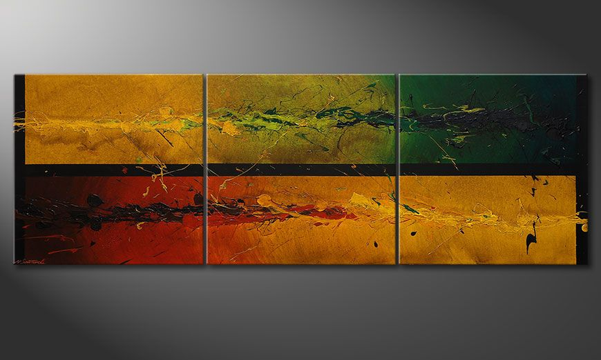 Big painting Blowing Elements 240x80x2cm