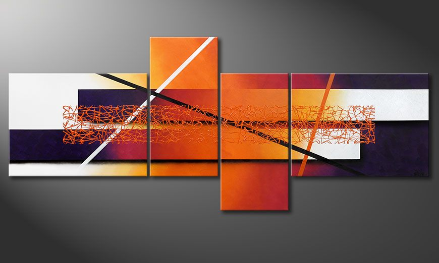 Canvas painting Afterglowing Memories 240x100x2cm