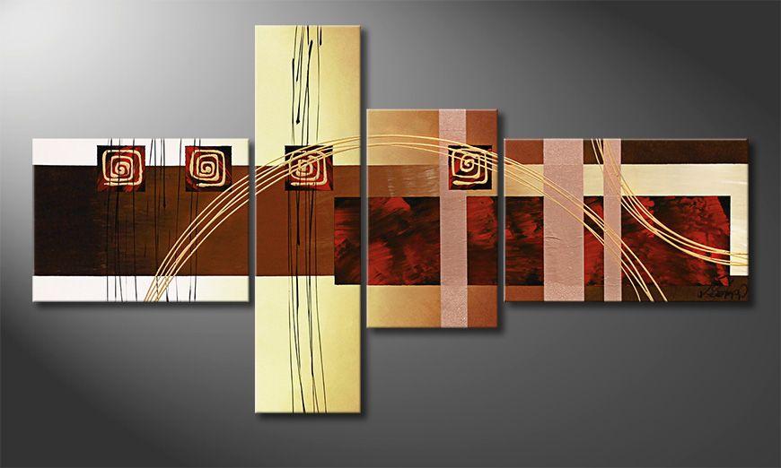 Canvas painting Golden Ways 130x70x2cm