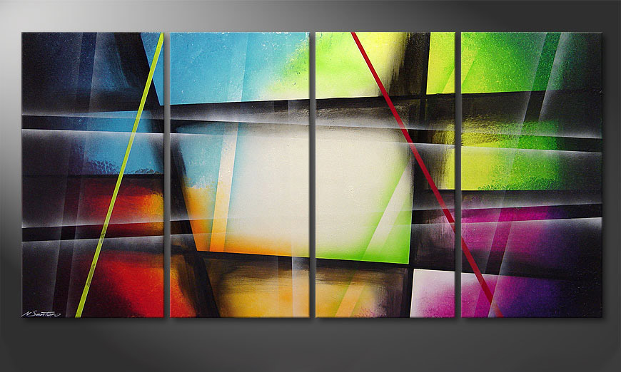 Canvas painting Window to Rainbow 160x80x2cm