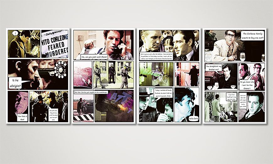 Classy art print Godfather (Part B) 160x60x2cm
