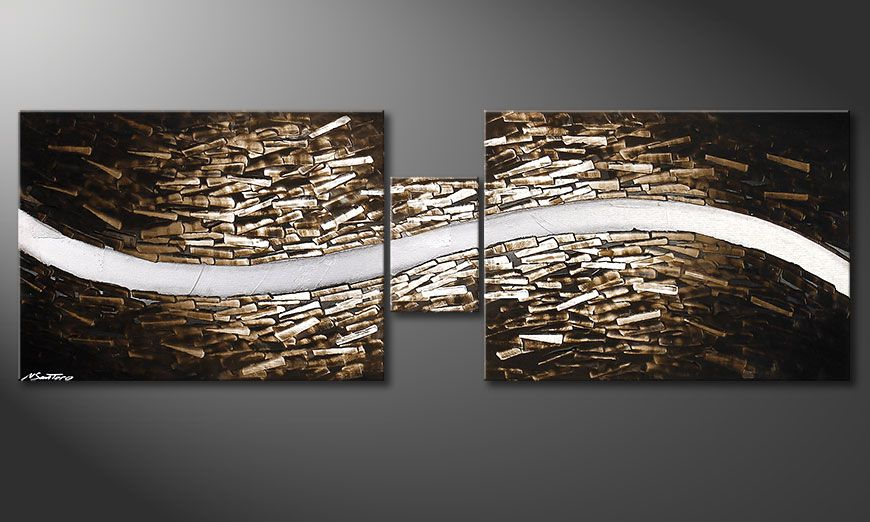 Framed painting Clear River 180x60x2cm