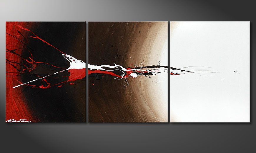 Framed painting Erupted Contrast 120x50x2cm