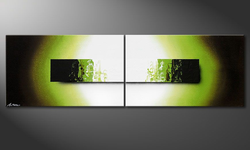 Framed painting Jungle Fever 200x60x2cm