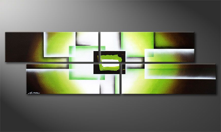 Green Spirit 200x60x2cm Painting