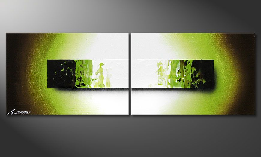 Hand painted painting Jungle Fever 120x40x2cm