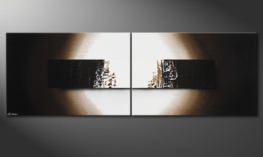 Hand painted painting Light Rain 240x80x2cm
