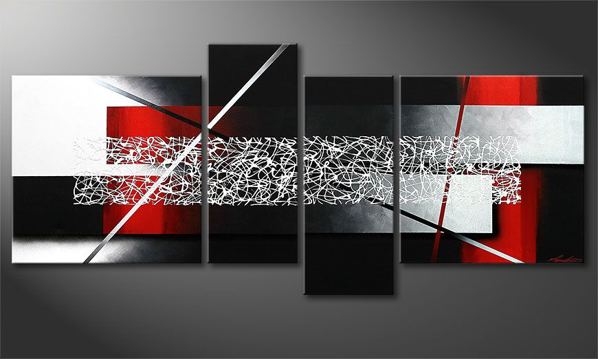 Hand-painted painting Sudden Inspiration 180x80x2cm