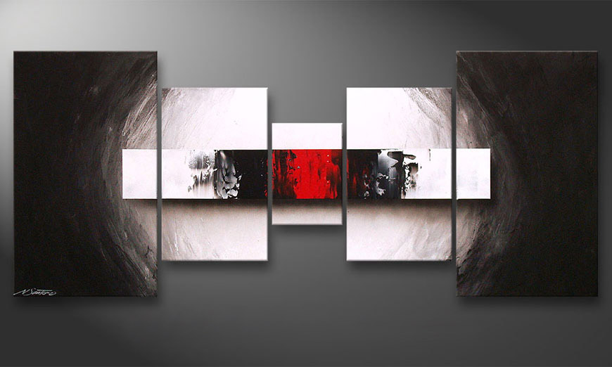 Living room art End of Contrast 160x70x2cm
