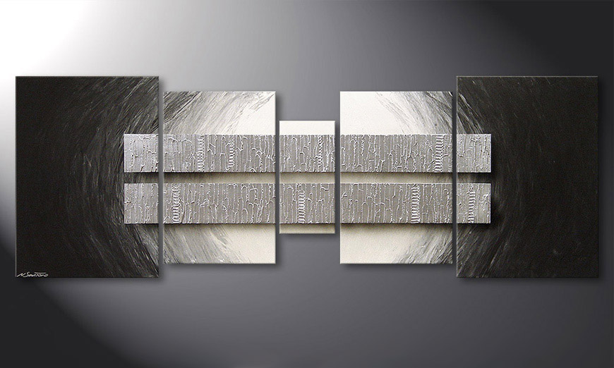 Living room art Silver Blocs 200x70x2cm