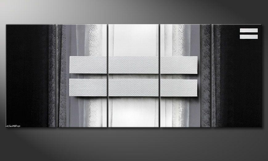 Living room art Silver Rain 200x80x2cm