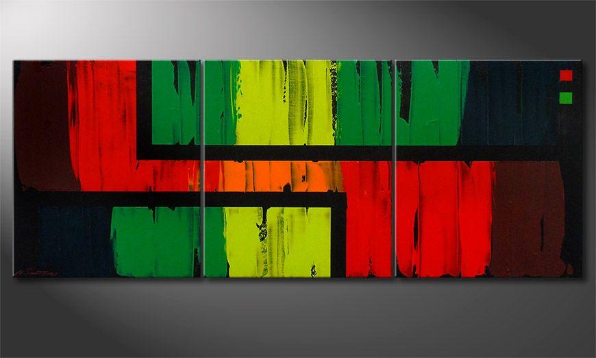 Living room art Urban Jungle 180x70x2cm