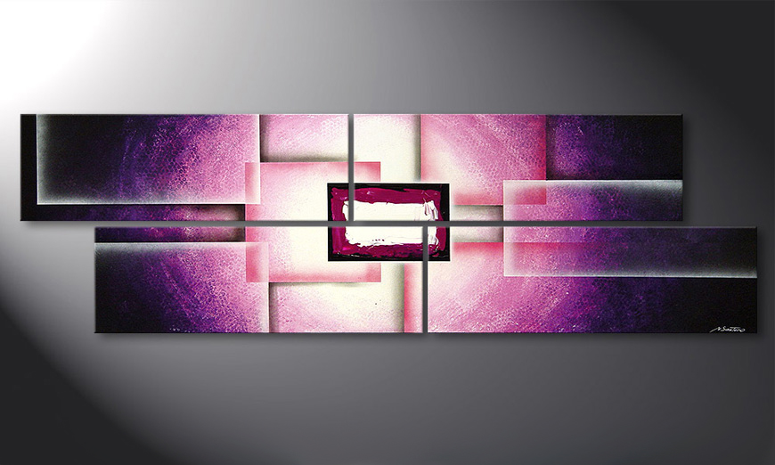 Living room painting Purple Sun 200x60x2cm