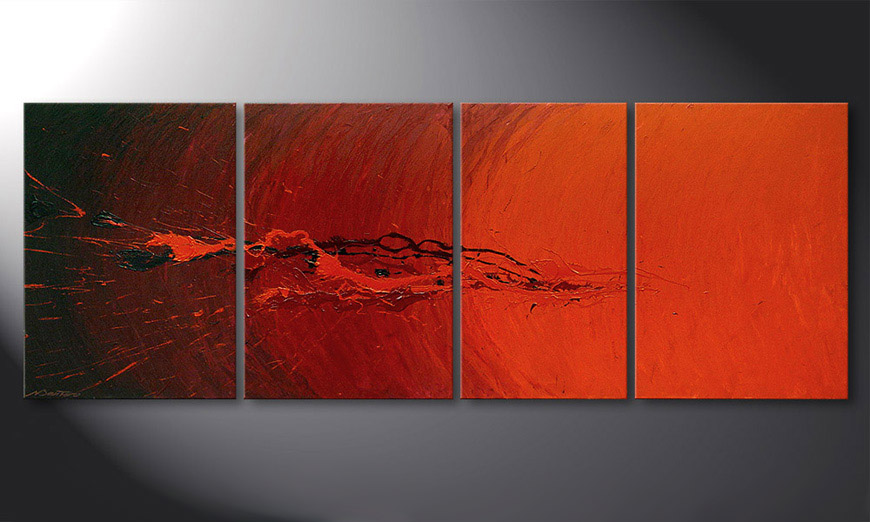 Living room painting Splash of Glow 190x70x2cm