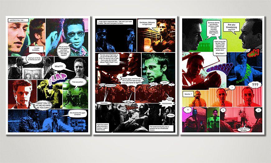 Living room print Fight Club 150x70x2cm