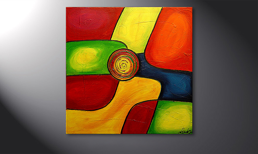 Modern Hand-painted painting Colors 80x80x2cm