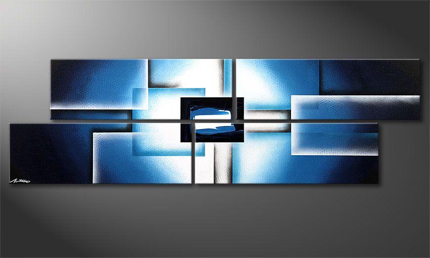 Modern Painting Polar Glow 200x60x2cm