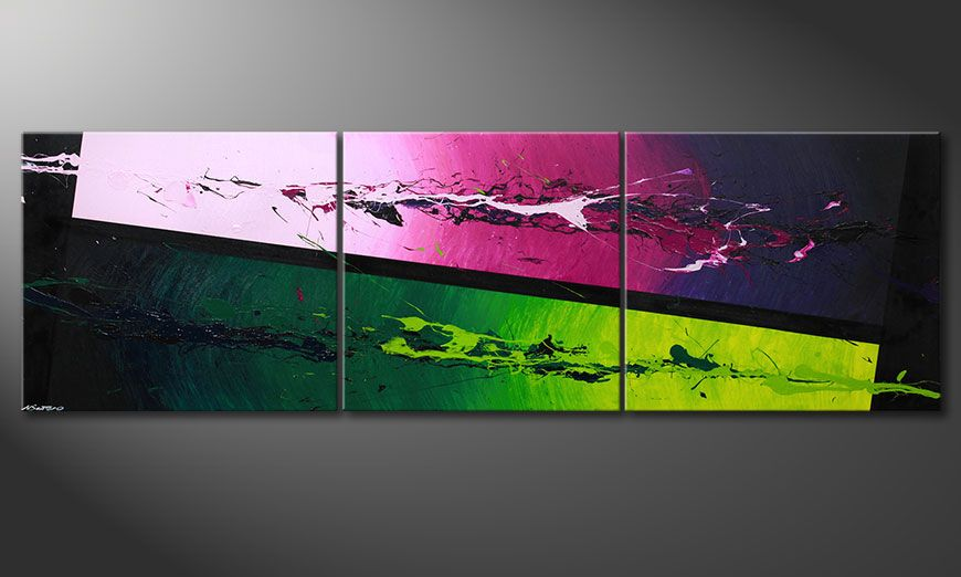 Modern XXL painting Tropic Splash 260x80x2cm