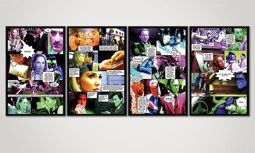 Modern art print Casino 160x60x2cm