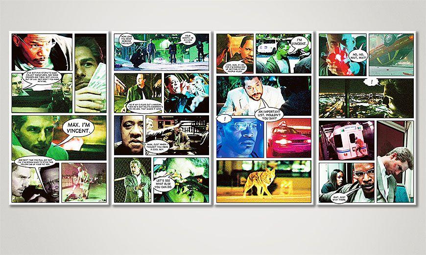 Modern art print Collateral 160x70x2cm