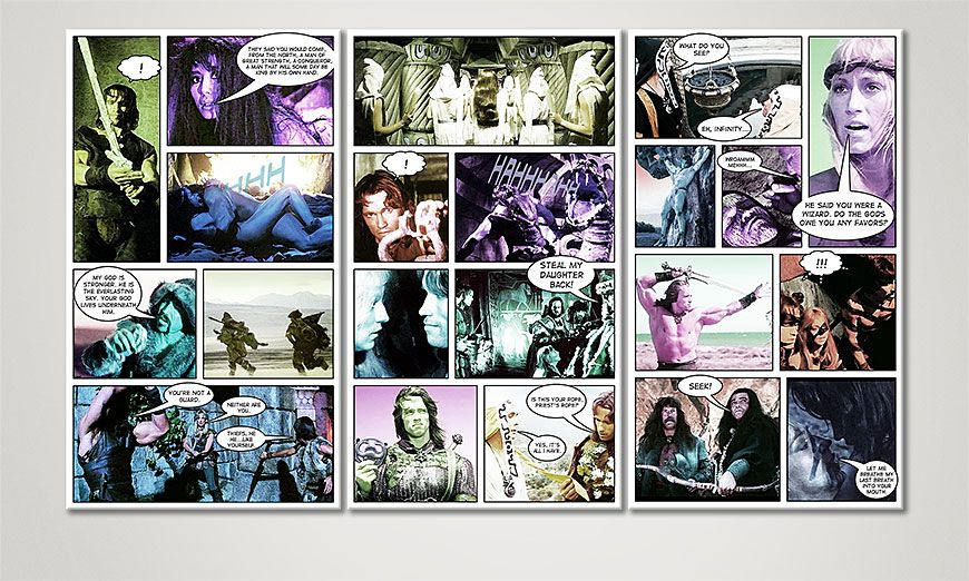 Modern art print Conan in 120x70x2cm