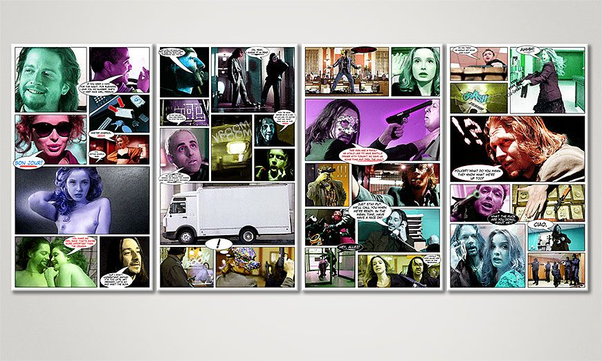 Modern art print Killing Zoe 160x70x2cm