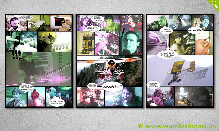Modern art print MacGyver 150x70x2cm