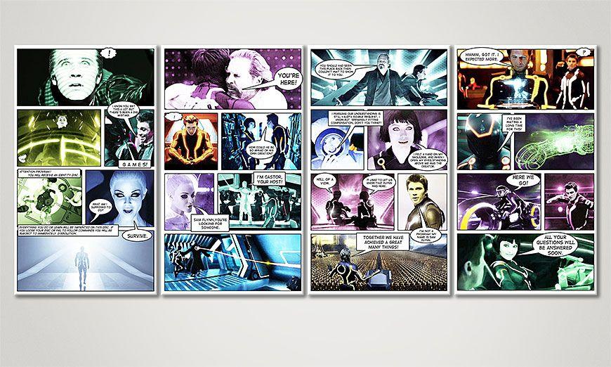Modern art print Tron: Legacy 160x70x2cm