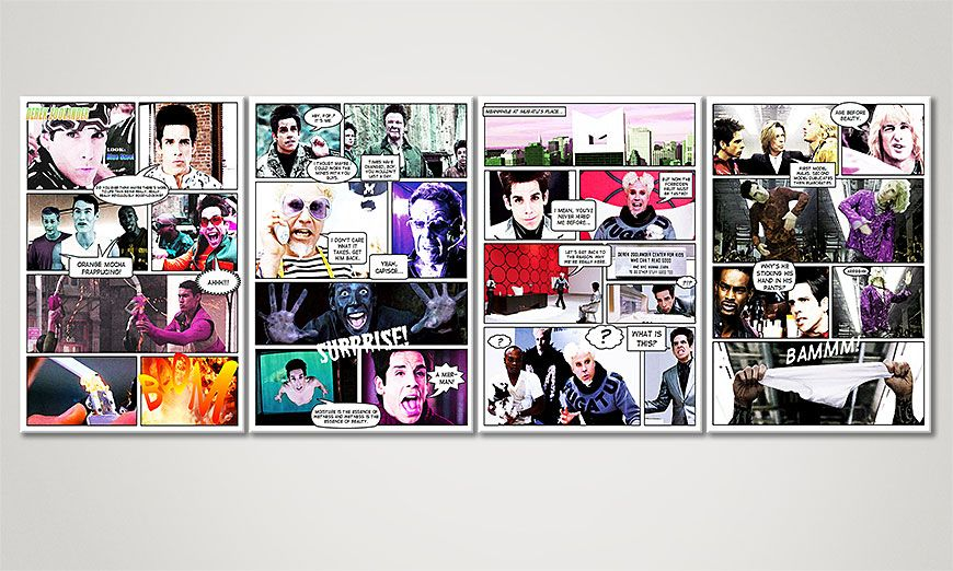 Modern art print Zoolander 160x60x2cm