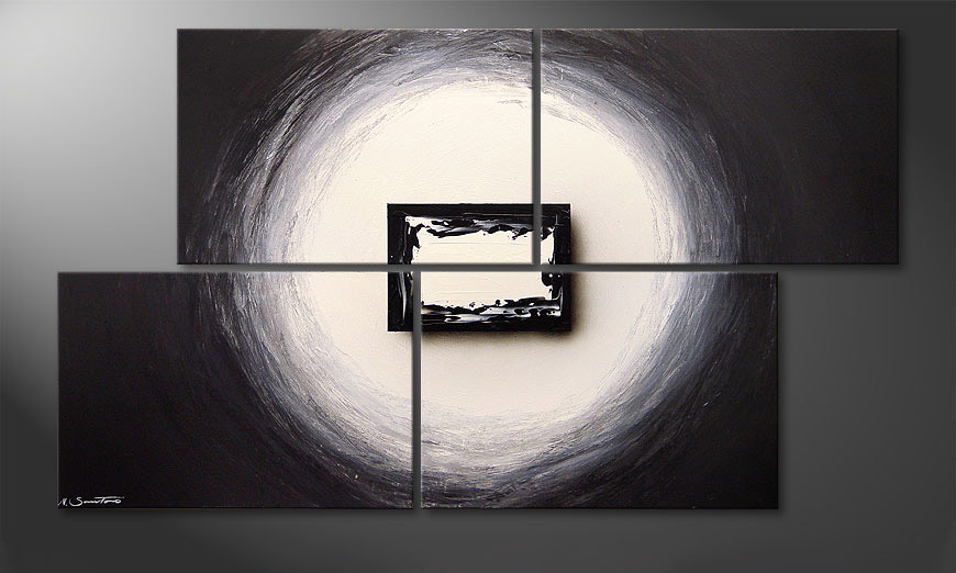 Modern painting Black and White 140x80x2cm