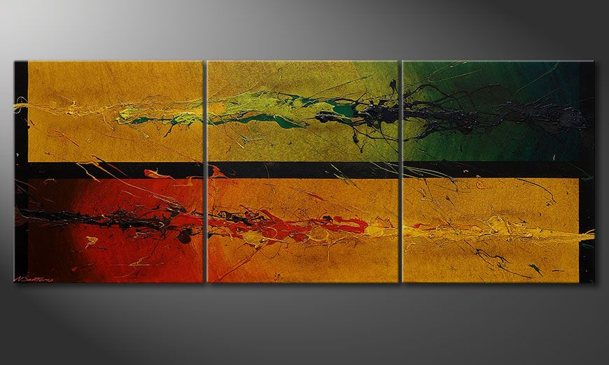 Modern painting Blowing Elements 180x70x2cm