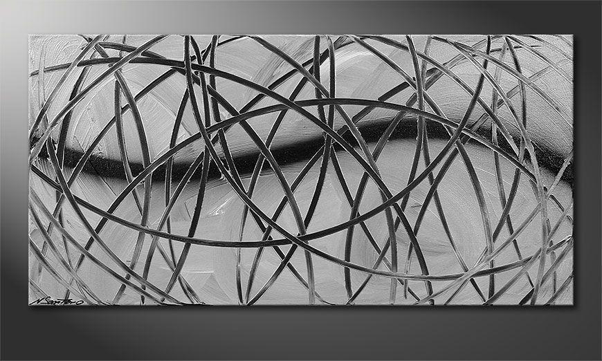 Modern painting Broken White 100x50x2cm