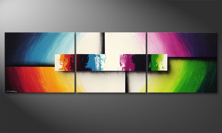 Modern painting Colorful Life II 210x60x2cm