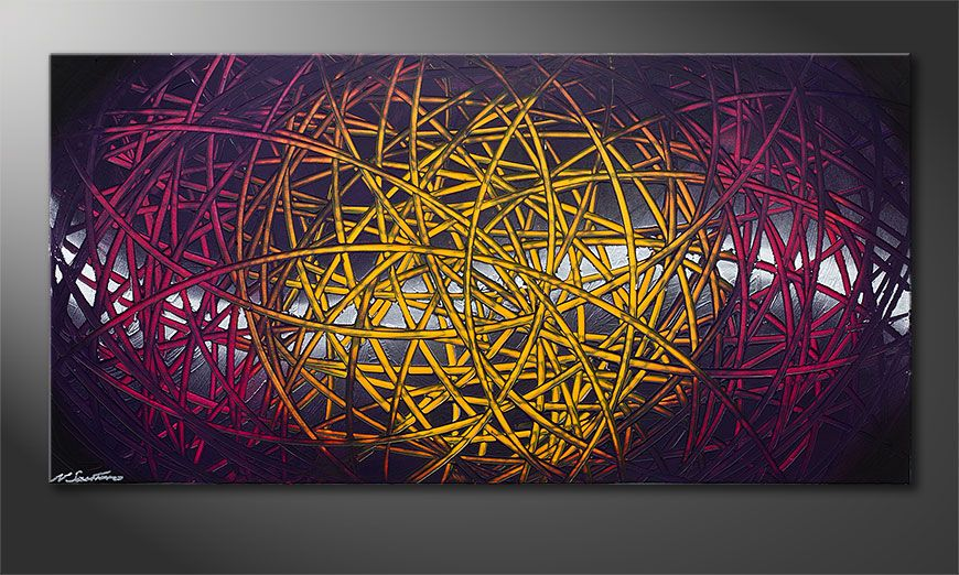 Modern painting Indian Moonlight 140x70x2cm