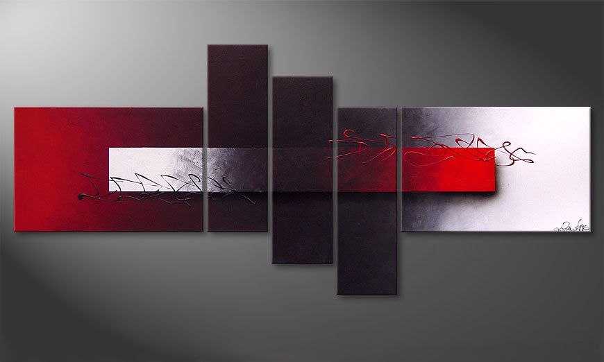 Modern painting Opposites Attract 180x80x2cm