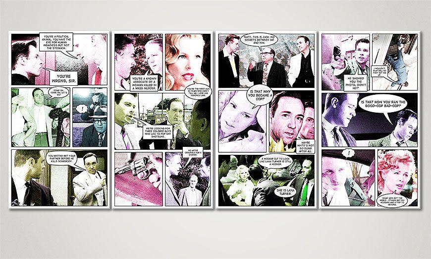 Modern print LA Confidential 160x70x2cm