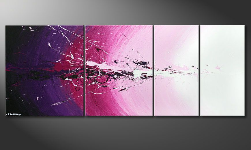 Multiframed painting Cosmic Splash 210x80x2cm