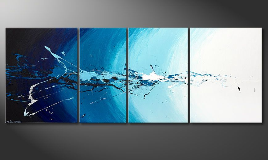 Multiframed painting Water Splash 210x80x2cm
