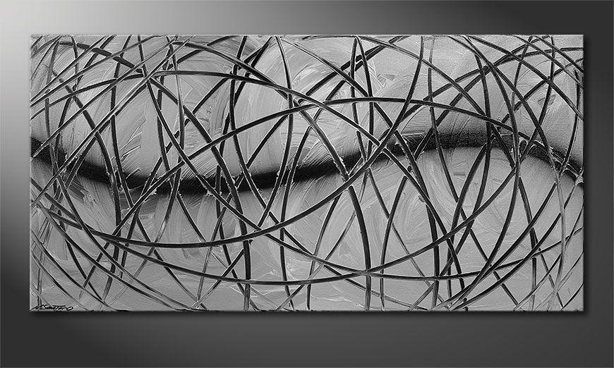 Painting Broken White 140x70x2cm