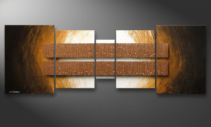 Painting Copper Blocs 200x70x2cm