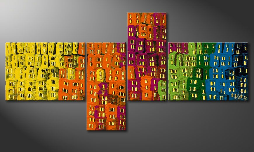 Painting Crazy Town 120x60x2cm